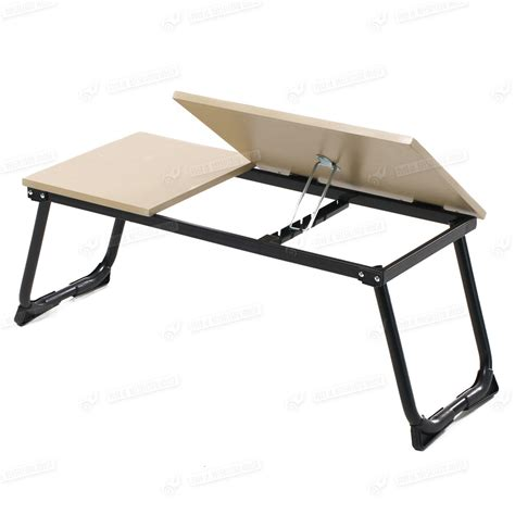 bed laptop table portable folding laptop table stand desk wooden lap bed tray computer notebook ebay