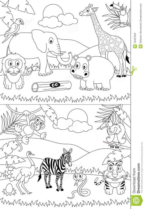 african landscape coloring page free savanna animals coloring pages