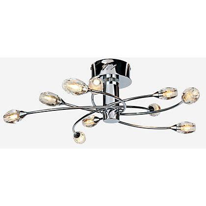 Maxwell 10 Light Fitting Chrome Chrome Ceiling Light Fitting