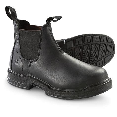 s wolverine 174 romeo steel toe pull on boots