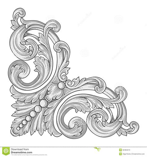 decoration frame corner stock photo image 32484070