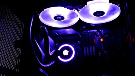 Id Cooling Frostflow 120l White Edition id cooling auraflow 240 rgb led effects on asus strix z270f