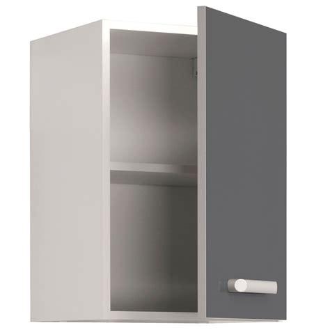 cuisine cach馥 par des portes meuble haut de cuisine contemporain 1 porte 40 cm blanc