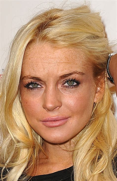 celebrities with forehead wrinkles lindsay lohan in huffington post s quot the big picture