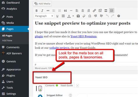 wordpress layout meta box beginner s tutorial on using yoast wordpress seo plugin