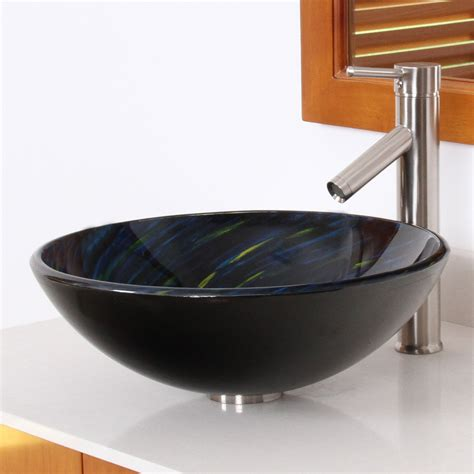 1403 elite modern design tempered glass bathroom vessel sink bathroom sinks sink kitchen