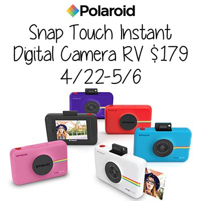 Polaroid Camera Giveaway 2017 - snap touch instant digital camera giveaway stingy thrifty broke