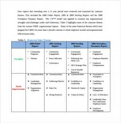 Template For Assessment Report by Sle Organizational Assessment Template 9 Free