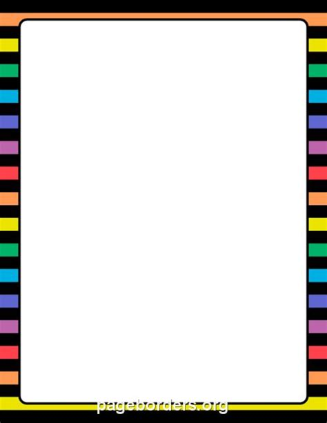 printable blue striped border use the border in printable rainbow and black striped border use the border in microsoft word or other programs