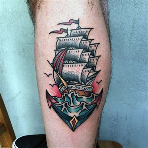 old school anchor tattoos 70 traditional anchor designs for vintage ideas
