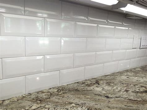 beveled subway tile backsplash beveled subway tile durable and easy to clean matt and