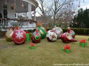 outdoor large ornaments diy outdoor decorations big ornaments
