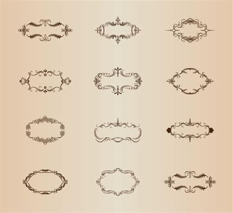cornici illustrator retro ornamental frames vector set free vector graphics