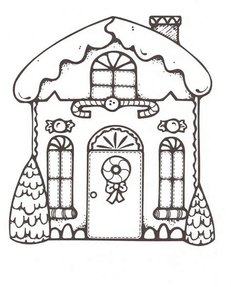 gingerbread house coloring pictures coloring home