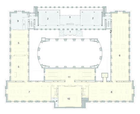 floor plan 3rd street gallery of st louis public library cannon design 10