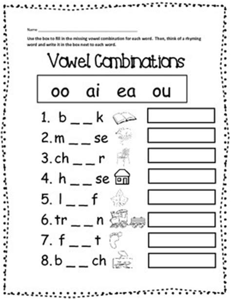 word patterns worksheets for grade 1 free vowel combinations printable worksheet by heather j tpt