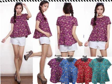Batik Atasan Peplum Blouse jual baju murah untuk reseller produk terbaru 17