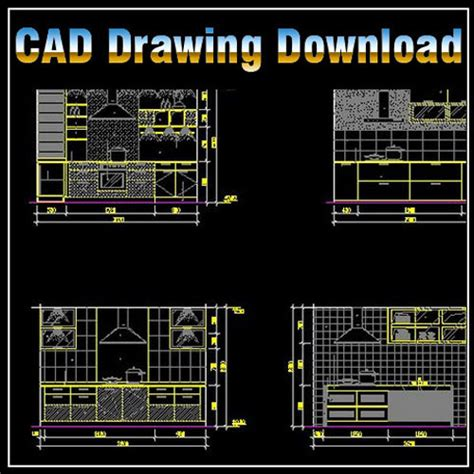 Cad Kitchen Design Software Free Download by Kitchen Design Vorlage Architektur Zeichnungen