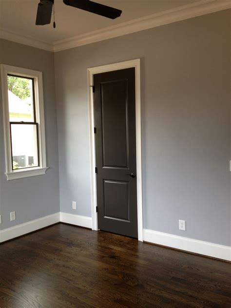 sherwin williams lazy gray and urbane bronze on doors and