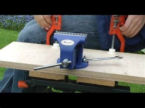 portable bench vice how to make your bench vice portable youtube
