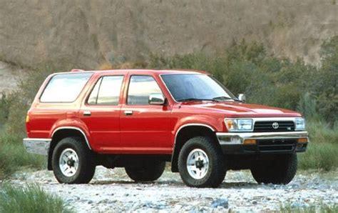 free auto repair manuals 1992 toyota 4runner regenerative braking used 1995 toyota 4runner suv pricing for sale edmunds