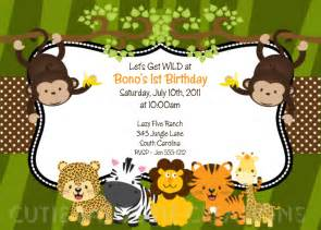 jungle safari birthday invitation printable or printed