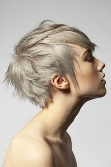 very short ash blond pixi cut short choppy pixie haircuts