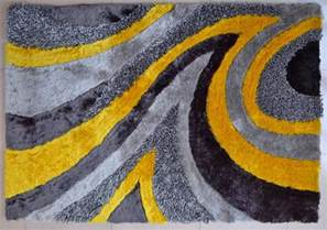 Grey And Yellow Area Rug Modern Shag Area Rug Grey Yellow 26