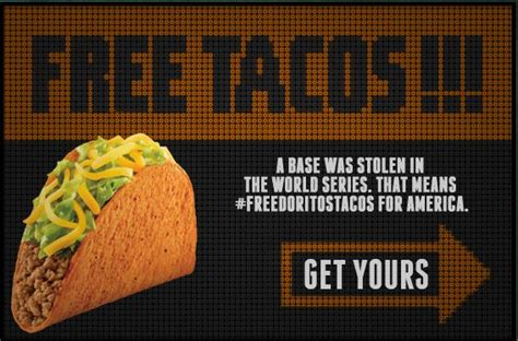 Taco Bell World Series Giveaway - free tacos thanks to taco bell and the world series on 10 30