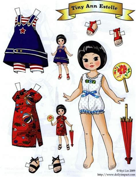 How To Fold Paper Dolls - 794 best images about modern paper doll on