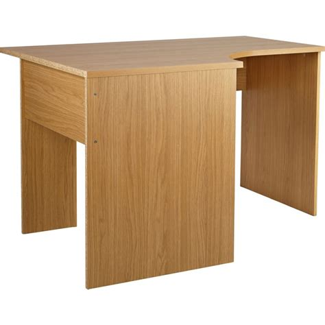 Oak Effect Corner Desk Walton Corner Office Desk Oak Effect