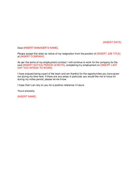 Resignation Letter Keep In Touch Sle Manager Resignation Letter Exles In Pdf Word