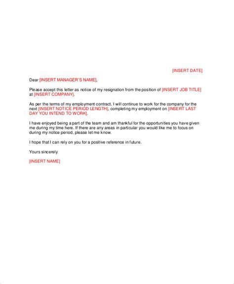 Resignation Letter Restaurant Manager Sle Manager Resignation Letter Exles In Pdf Word