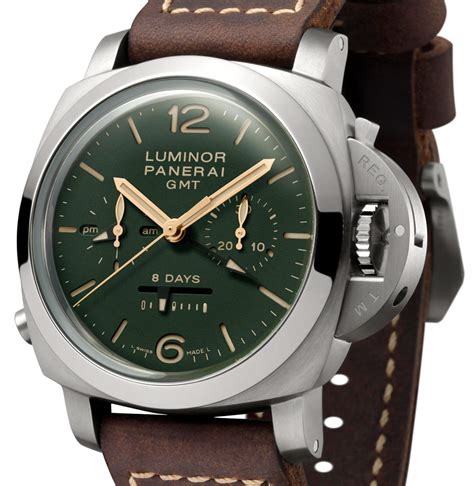 Luminor Panerai Rattrapante Black Green panerai green limited edition pam735 pam736 pam737 collection watches ablogtowatch