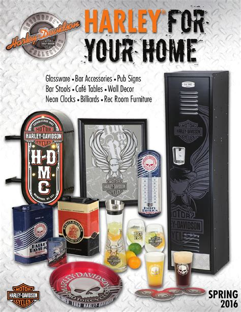 harley davidson home decor catalog harley davidson 174 roadhouse collection spring 2016 catalog