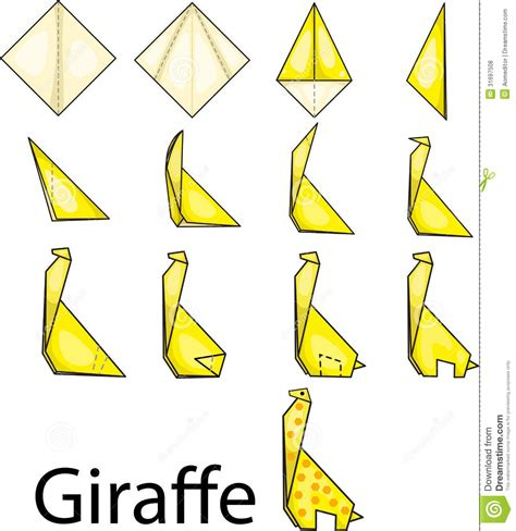 Giraffe Origami - pin free giraffe origami diagram on