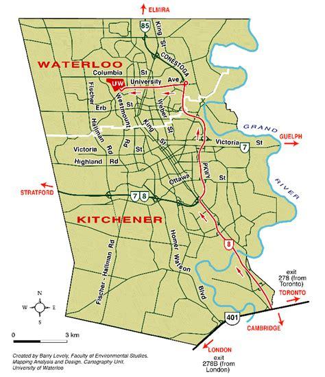 Kitchener Waterloo Area by Kitchener Map Waterloo Kitchen Design Photos