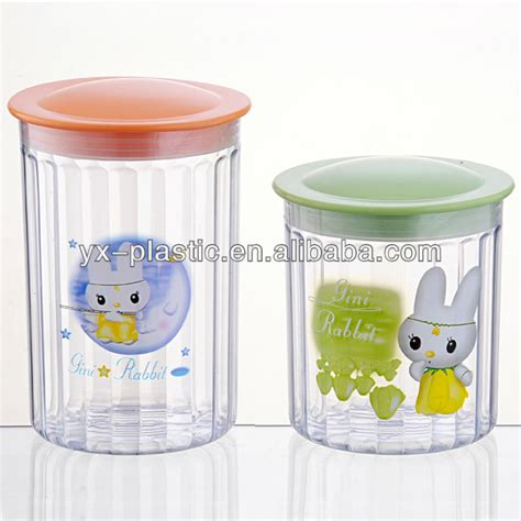 Kitchen Canisters Clear Plastic Kitchen Clear Square Plastic Food Storage Canisters Set