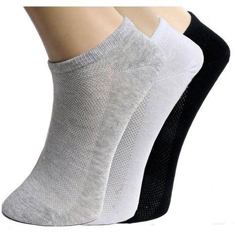 Kaos Pria Motif 6 kaos kaki olahraga pria motif jaring 5 pair white