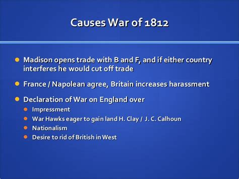 Causes Of War Of 1812 Essay by The War Of 1812 Apush Sludgeport473 Web Fc2