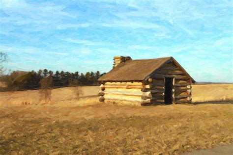 Log Cabin Paintings by Log Cabin Painting Painting By Don