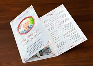 tri fold publisher template tri fold funeral program publisher template
