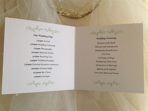 layout order of service wedding order of service wedding template daisy chain invites