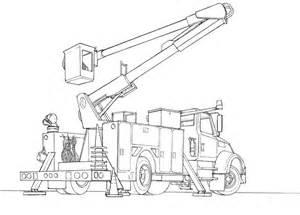 Bucket Truck Drawing sketch template