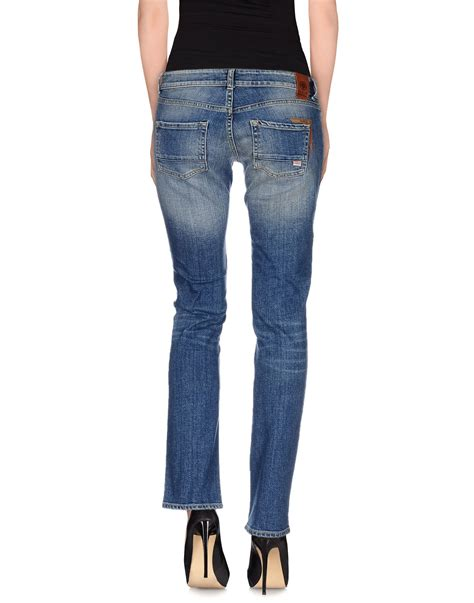 marshel denim dress franklin marshall denim trousers in blue lyst