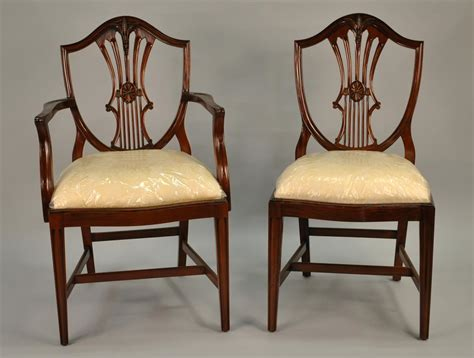 Antique Dining Room Chairs Small Vintage Size Shield Back Dining Room Chairs Solid Mahogany