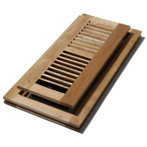 decor grates 4 in x 10 in wood natural maple flush mount floor register wmlf410 n the home depot