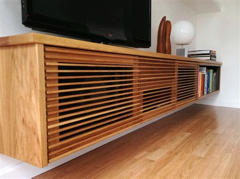 Floating Media Cabinet and Shelves   Contemporary   Living
