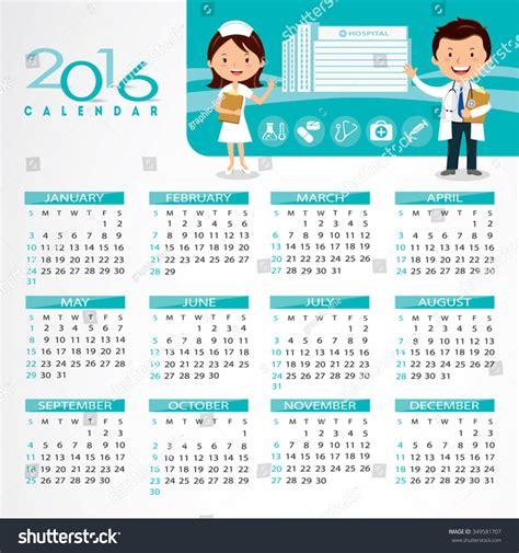 calendar design for hospital 2016 medical calendar doctor and nurse gesturing in front