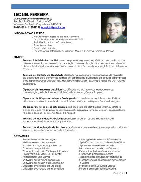 Modelo Curriculum Peru 2015 Leonel Ferreira Curriculum 2015 Final2